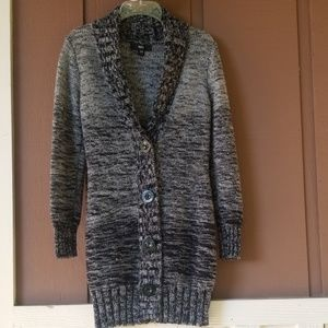 Cozy Fall Gray Ombre Longline Cardigan